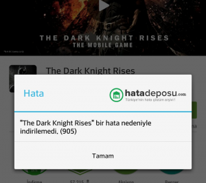 905 Google Play Hatası