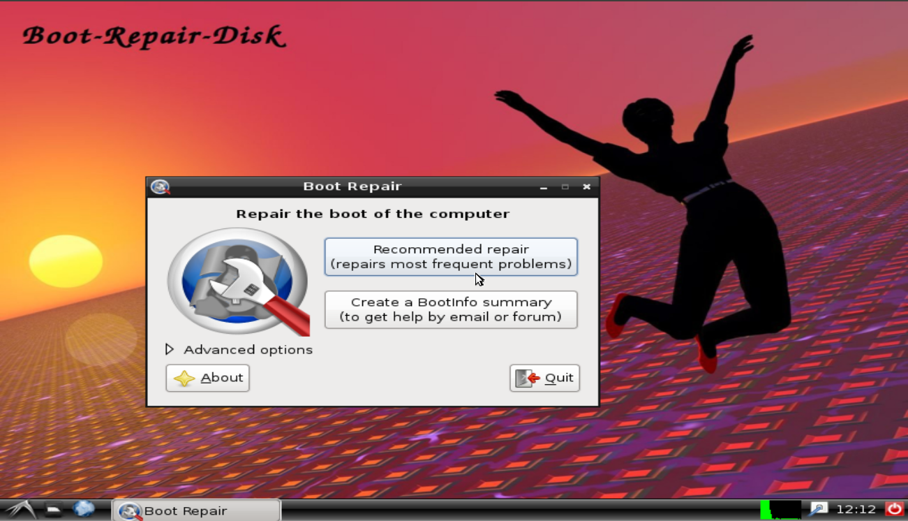 Installing windows 7 system recovery disc onto usb flash drive.